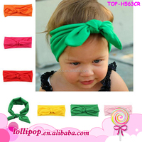 Infant baby cotton plain knot headband Baby Solid Hairband Colorful Children headband