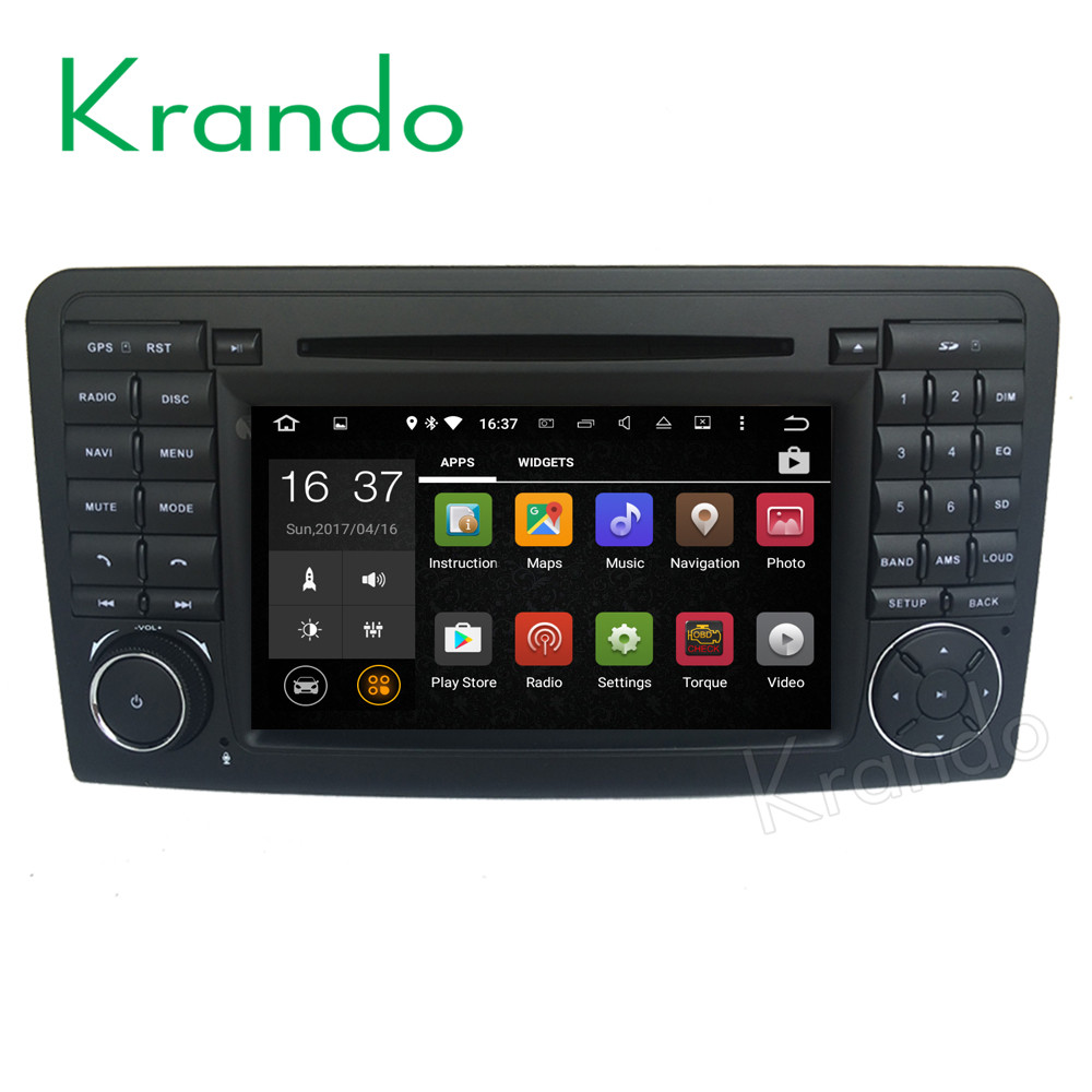 Krando Android 7.1 car radio multimedia for mercedes for benz ml w164 2005-2012 car dvd gps navigation system WIFI 3G KD-MB164