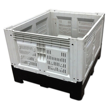 Bulk container 1200x1000x810mm folding plastic pallet bin