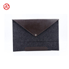 Custom Size Felt Laptop Protective Sleeve Bag Case With PU Leather