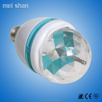 3W colourful changing light LED bulb e27 base and PBT material