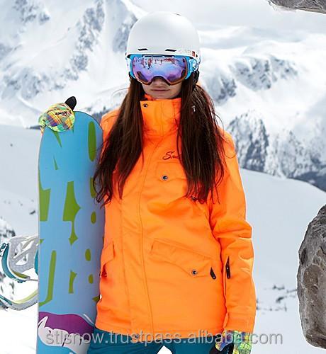2014/2015 High quality waterproof 20000mm snowboard jacket, STL Beat NeonOrange