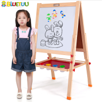 Kids fun mini wood flexible magnetic whiteboard sheets with standing holders