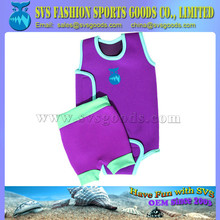SVS Baby Neoprene wrap In purple Swimbest and Swim Nappy Set