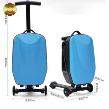 Fashion product Rolling Multifunctional Wheel Scooter Suitcase