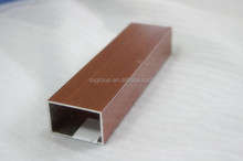 Supply 6063 wood tube aluminium extrusion profile for windows and door