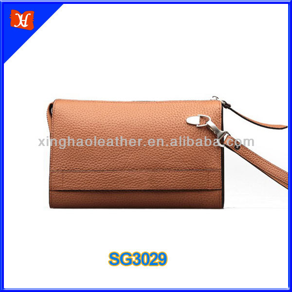 Genuine leather wallet card-slot cell mobile phone case