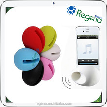 portable egg shape silicone egg speaker for iphone 5s