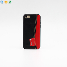 High quality cell phone leather case with card holder for iphone 7