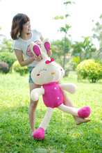 Novelty colorful long legs rabbit plush toy
