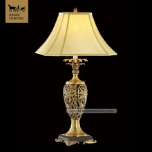 French lighting European Lights Hotel living room bronze Luxury Brass table lamps