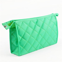 Fashion Quilted Promotional Custom Travel Cosmetic Bag
