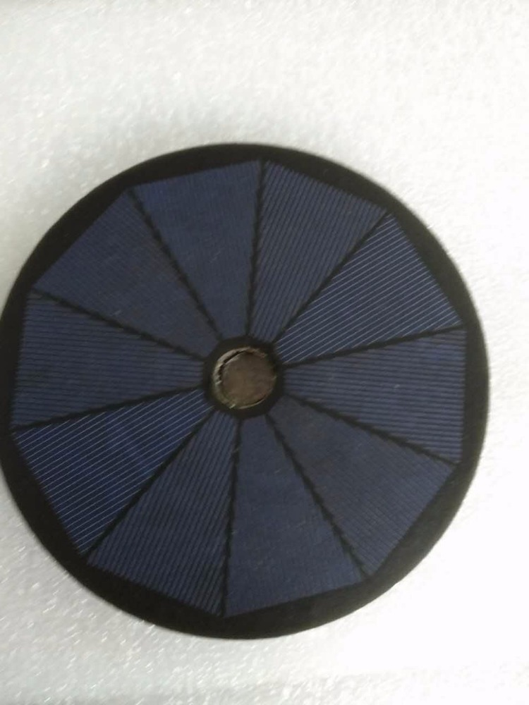 peel and stick circular solar panel 1.8w 5v 128mm diameter