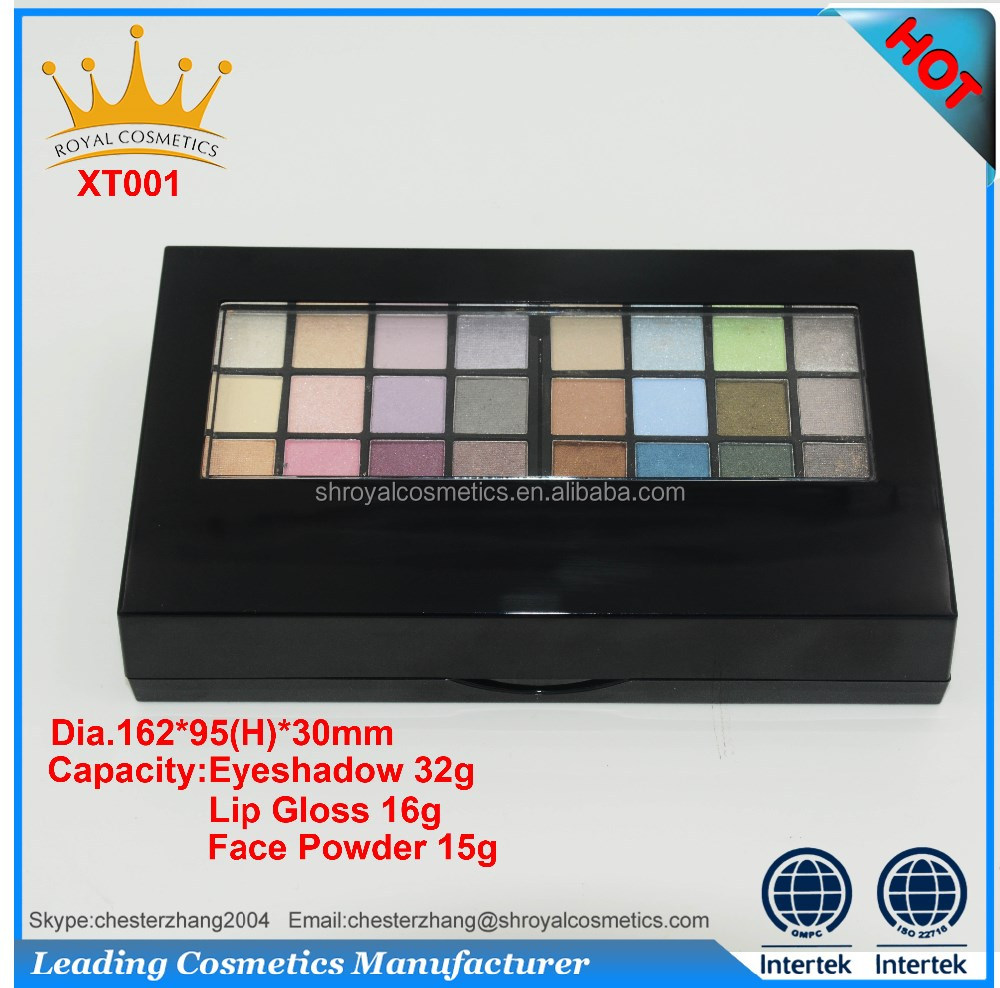 professional makeup foundation palette for eyeshadow and blush cosmetics