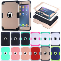 New Arrival Tough Strong Shockproof Armor Combo Rugged Cover for Apple iPad Mini 2 3 4 Case