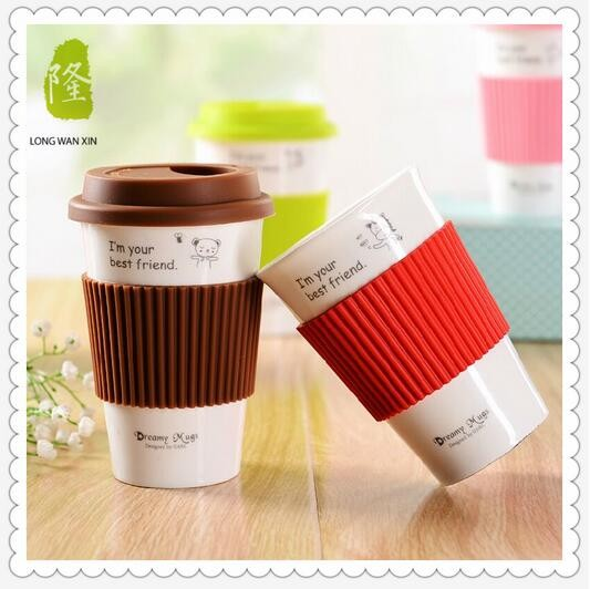 Reuseable Cermaic Milk Mug With Paint For Popular Promotion