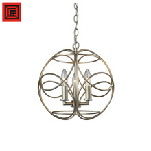 Modern rural indoor restaurant lobby hanging chain silver chandelier pendant lighting