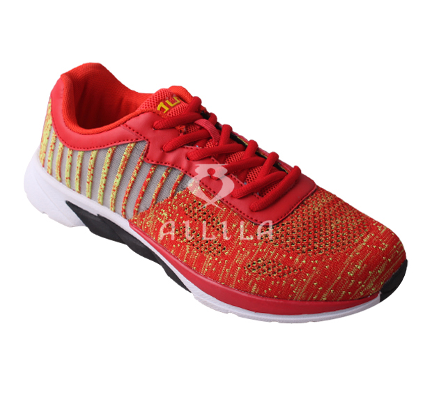 New style flyknit upper air breathable sport running shoes for men