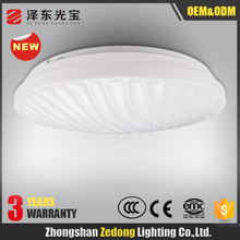 NEW products of 2016 modern indoor acrylic shell round led surface mount ceiling lamp