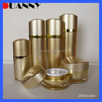 BEAUTY HOT SALE ACRYLIC COSMETIC LOTION BOTTLES AND JARS,SMALL PLASTIC CYLINDER CONTAINERS
