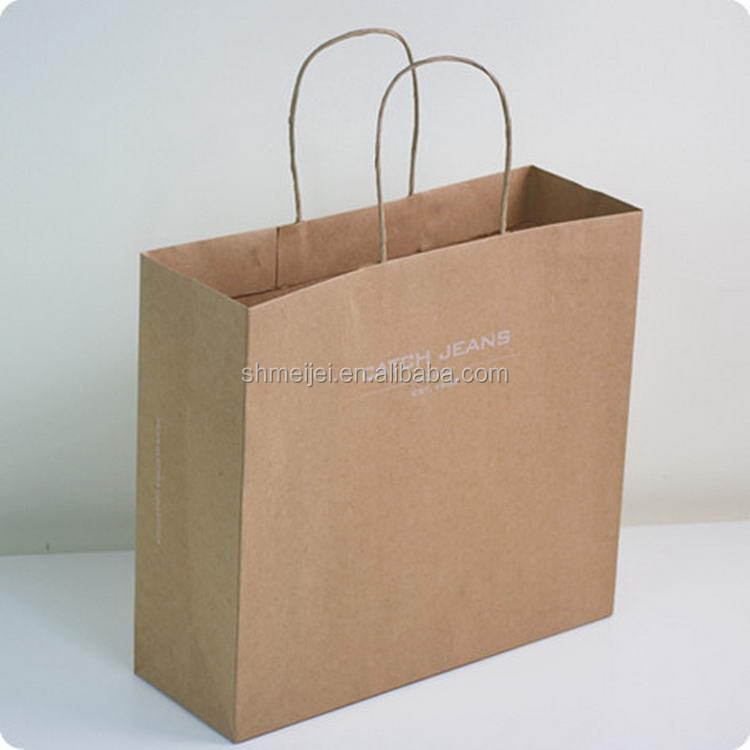 Factory top level large shopping paper bag with handle