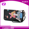 multi card holders long style genuine leather girls fashion printing pattern wallet