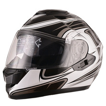 ECE, DOT approved customed motorcycle full face helmet with double visor