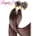 wholesale U tip brazilian remy hair extension,1g/strand virgin remy hair U keratin bonded hair