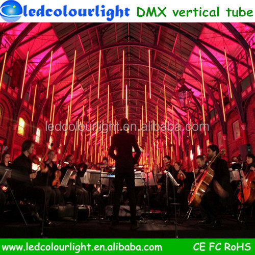 hot sexey tube crystal outdoor light ip65 madrix dmx vertical tube lighting for design signs