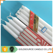Cheap price tearless and smokeless white stick Long burning candle