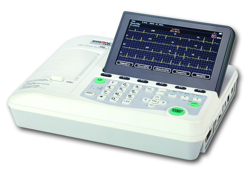 3 channel EM-301 electorcardiograph ecg machine with auto interpretation