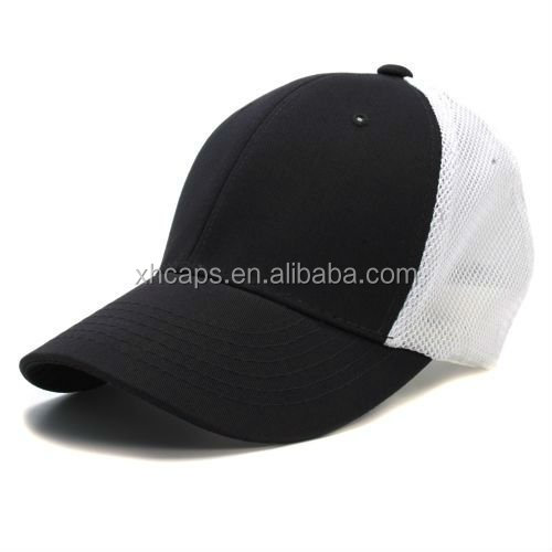 plain flexfit polyester mesh caps