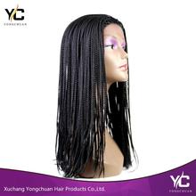 good quality micro braided lace front wigs cheap african american braided wigs for black women
