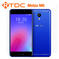 Original Meizu M6 Mobile phone MTK6750CPU 2GB/3GB 16GB/32GB 5.32inch Camera 13.0MP
