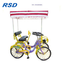 2018 hot sale mother baby tandem bike,surrey bike electric tandem bike,4 person tandembike factory