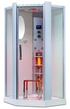 Luxury Aluminium Colunm and Glass Infrared Steam Shower room, shower cabin K023
