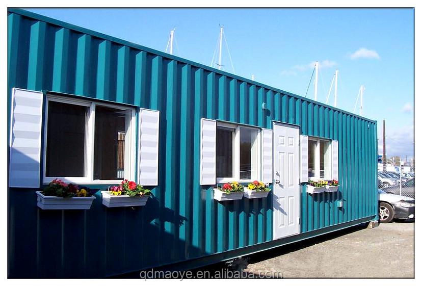 Pre made european prefab shipping container house for sale for Pre built shipping container homes