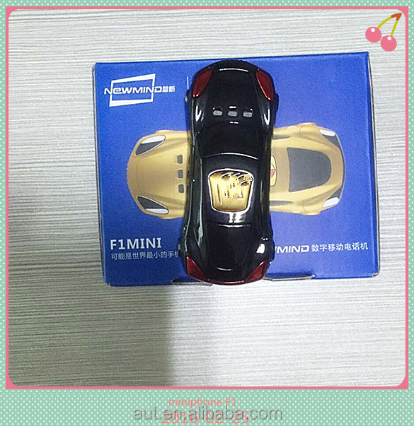 Tiny mini F1 phone Sports car Unlocked bar cell phone Dual-frequency single SIM card mobile phone