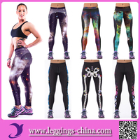 2016(YDC041) Newest Design 3D Galaxy Pirnted Girls TIghts Spandex Woman Leggings