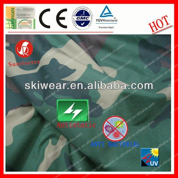 Anti Bacterial 100% Polyester cement print fabric For Outdoor Garment