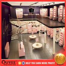 Competitive price 3D pink nail salon furniture and mall manicure kiosk shopping