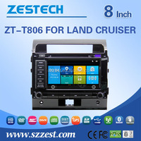 For toyota land crusier car accessories with external microphone GPS DVD FM/AM support IPOD USB/SD BT Mulit-language A/V In/Out