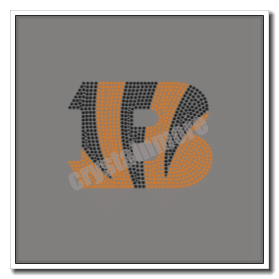 Bengals Football Rhinestone Iron On Transfers Design