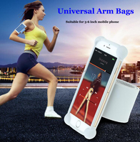 Smart Phone Silicone Arm Bags Running Sport Outdoor Gym Armband for 3-6inch mobile phone case
