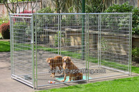 5'x10'x6' size metal wire welded galvanized outdoor large Dog kennel