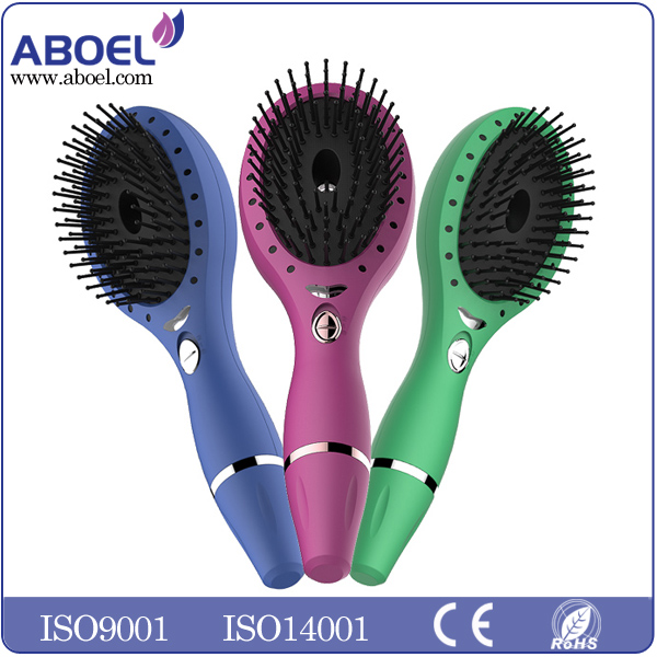 Electric Hair Brushes Red LED Light Hair Brush with Private Lable