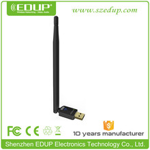 Hot-selling 6dbi driver free 150mbps wireless usb adapter 802.11n/wi-fi adapter