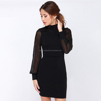 walson fashion sexy backless dress pin up o-neck skirt slim fit pencil dress for whosesell
