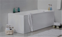 bathtub with panel