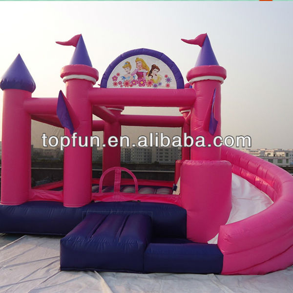 pink exciting inflatable jumping castle